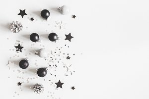 Christmas black decorations