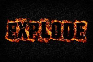 Fire Text Effects for Photoshop