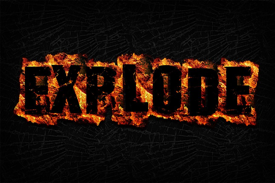 Fire Text Effects for Photoshop ~ Photoshop Add-Ons ~ Creative Market