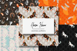 Horse Show - Seamless Patterns