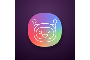Winking robot emoji app icon