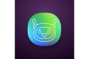Excited robot emoji app icon
