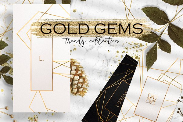 Gold Gems - trendy collection