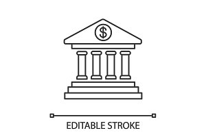Online banking linear icon