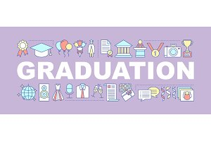 Graduation ceremony concepts banner