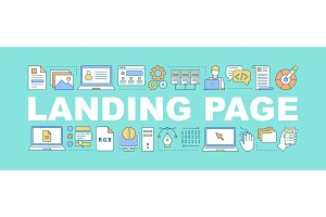 Landing page word concepts banner