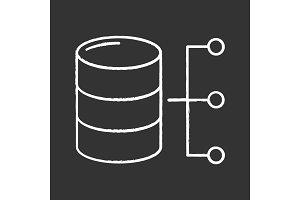 Relational database chalk icon