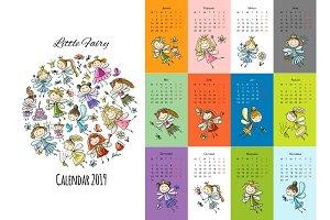 Little fairies, calendar 2019 design
