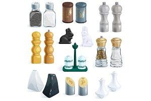 Salt shaker vector design pepper