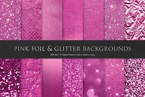 Pink Foil & Glitter Backgrounds