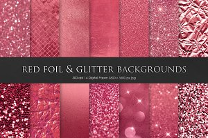 Red Foil & Glitter Backgrounds