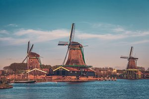 Windmills at Zaanse Schans in