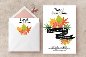 Floral Invitation Card Templates