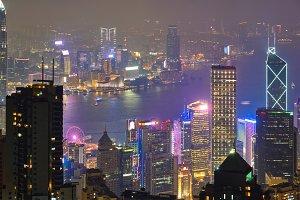 Hong Kong skyscrapers skyline