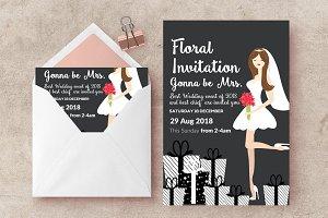 Bridal Shower Psd Flyer Templates
