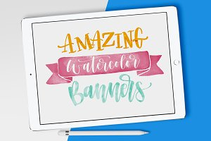 BANNERS iPad Watercolor