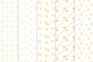 Little star seamless patterns