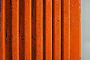 orange metal shutter