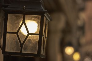 Vintage lantern for public lighting