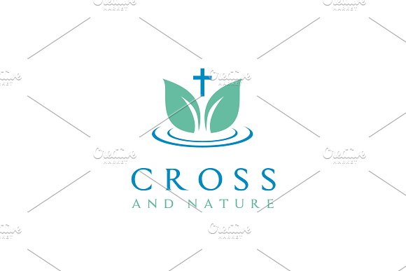 nature church christian logo design logo templates creative market