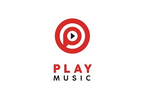Initial P for Play Music/Video Logo
