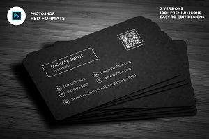Modern Dark Pixels Business Cards