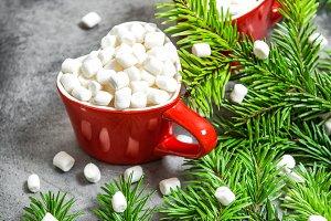 Hot drink marshmallow Christmas deco