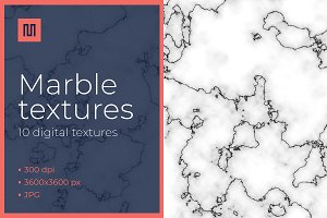 Marble texture - black/white bundle