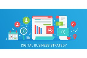 digital business strategy concept