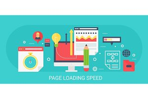Page loading speed concept