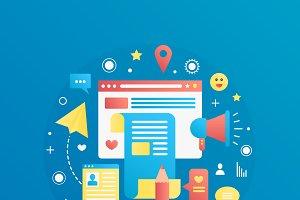 Modern gradient blogging concept