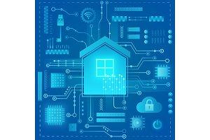 Smart home modern absract concept