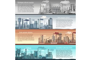 Industrial factory banners landscape