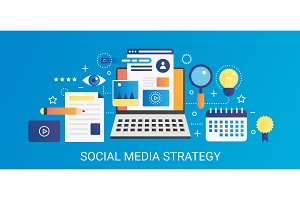 Social media strategy concept