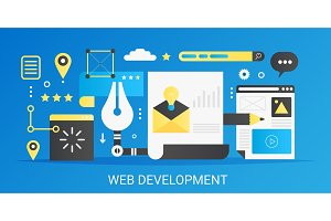 Web development gradient concept.