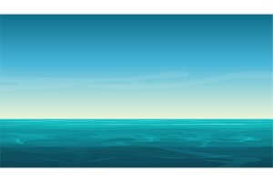 Cartoon clear ocean sea background