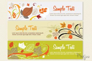 3 Banners Template in Vector and JPG