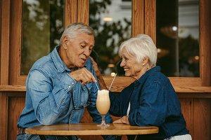 Beautiful senior couple in love