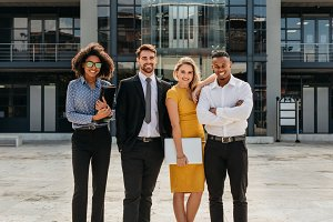 Diverse group of business profession