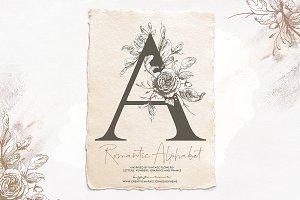 Floral Vintage Alphabet | Monograms