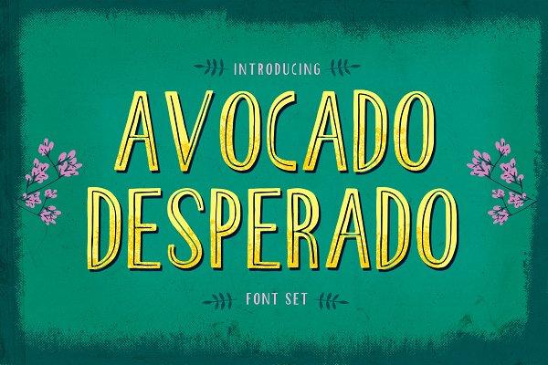 Fonts: 3ora - Avocado Desperado Font Set