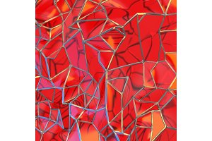Abstract 3d rendering of chaotic red
