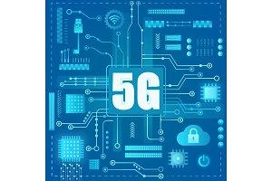 5g Internet connection concept