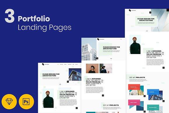Portfolio Landing Pages For Creative Creative Photoshop Templates Creative Market