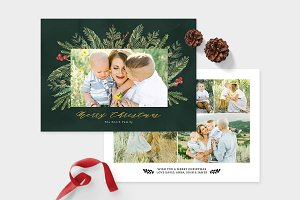 Christmas Photo Card Template -CD084