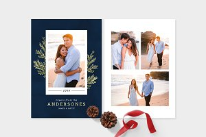 Christmas Photo Card Template -CD085