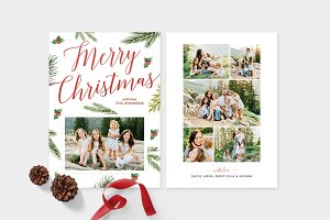 Christmas Photo Card Template -CD086