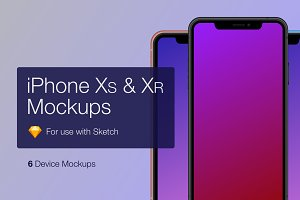 iPhone XS and XR Device Mockups