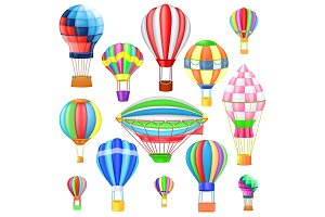 Air balloon vector cartoon air