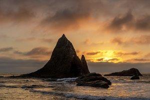 Sunset over Martins Beach